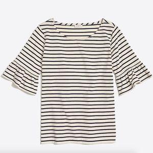 J.Crew Factory Ruffle Sleeve T-Shirt Small